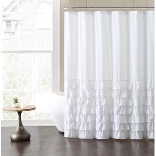 monroy ruffle single shower curtain