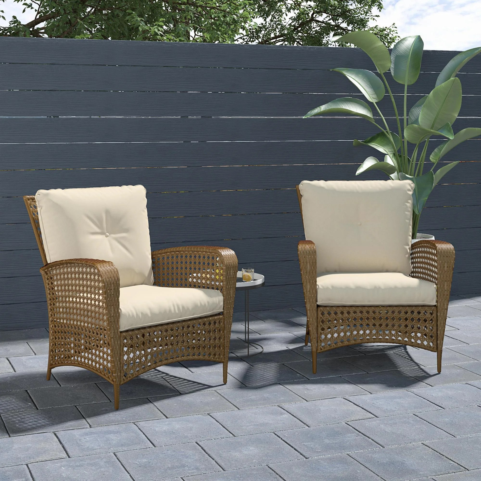 edwards patio chair with cushions