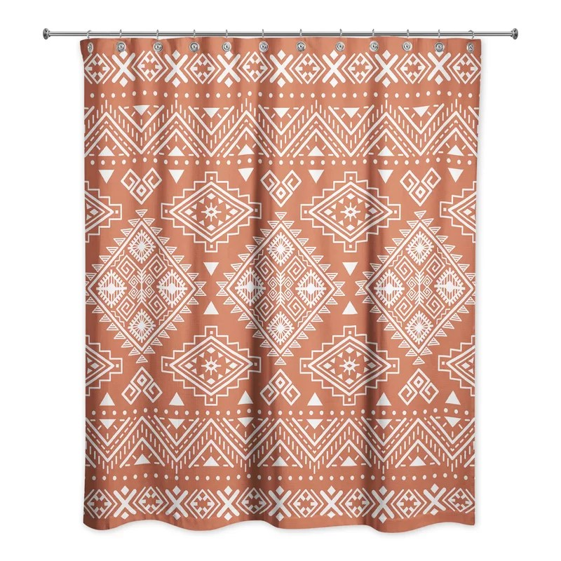 eilidh tribal pattern single shower curtain