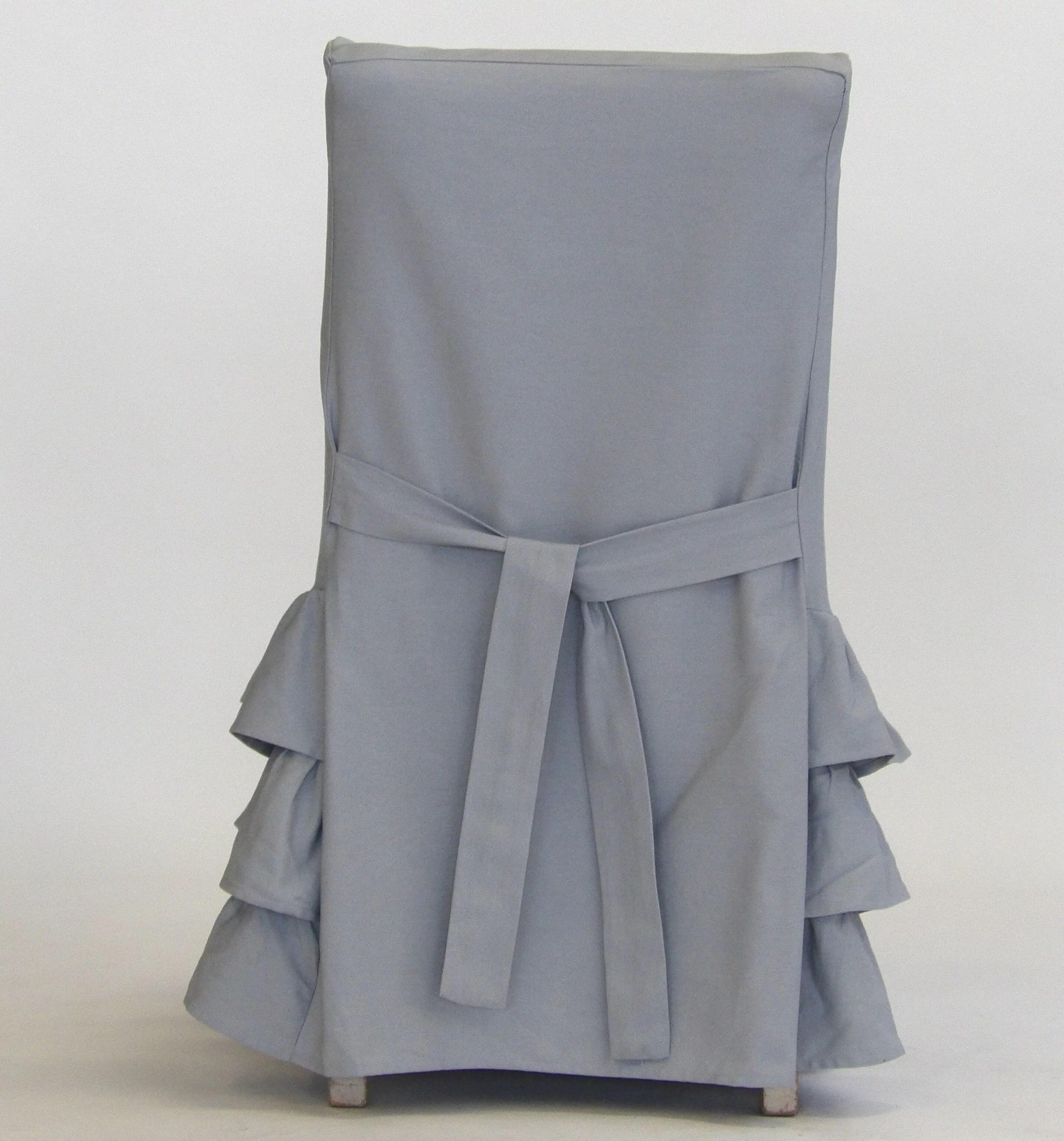 Parson Skirted Box Cushion Dining Chair Slipcover