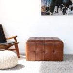 Brown Leather Ottomans Poufs You Ll Love In 2020 Wayfair