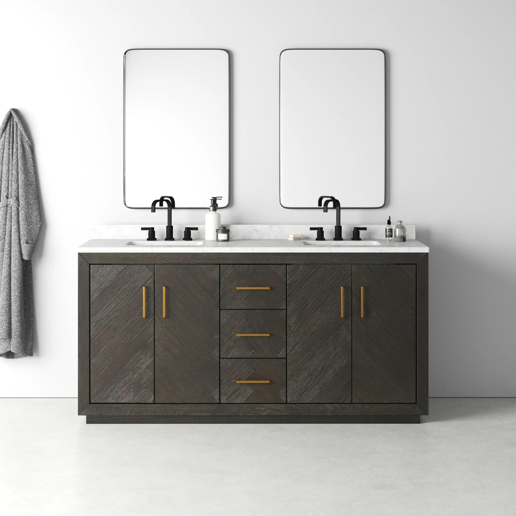 kolton 72 double bathroom vanity set