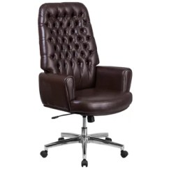 Chair On Wheels Incline Gym Tufted Wayfair Broadwell Traditional Swivel High Back Executive