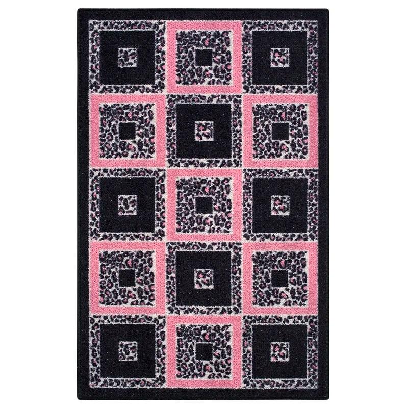 Pink Area Rug Rug Size: 26 x 310
