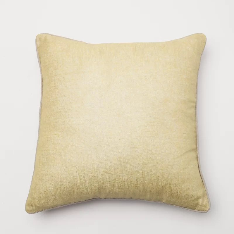 Throw Pillow Cover Color: Yellow
