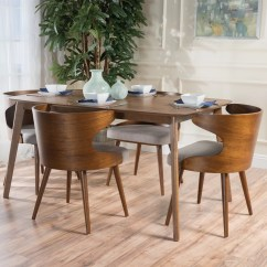 Mid Century Dining Chairs Amazon Chair Covers And Sashes Langley Street Camille 5 Piece Walnut Set Wayfair
