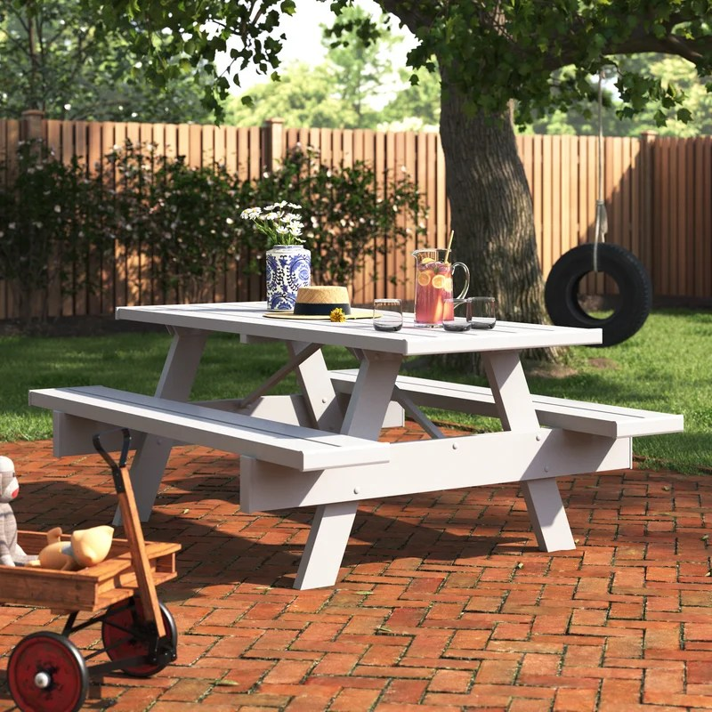 windermere rectangular 6 person picnic table