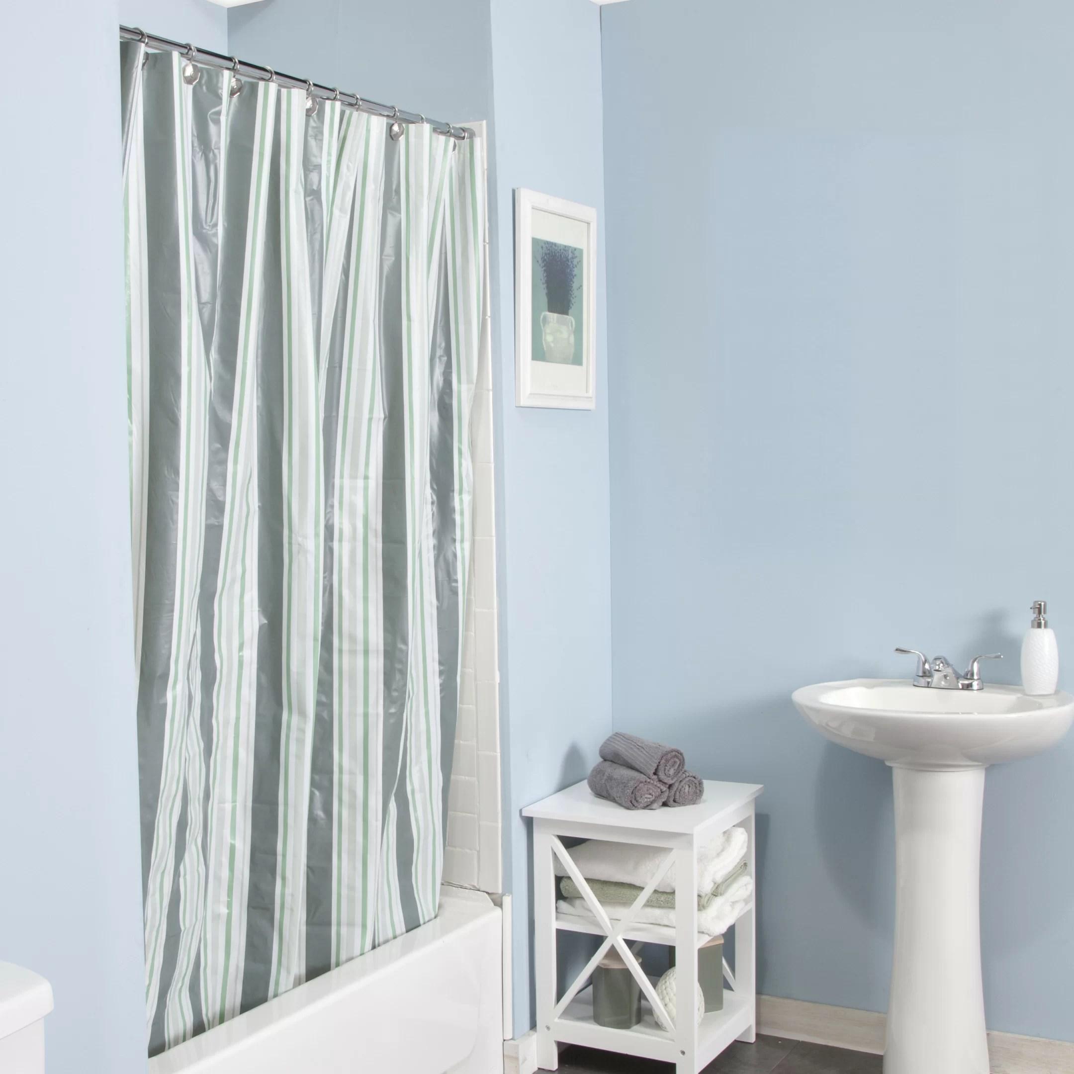 Vinyl Striped Shower Curtain Liner