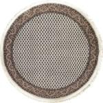 Bokara Rug Co Inc One Of A Kind Hand Knotted Brown Ivory 5 Round Wool Area Rug Wayfair