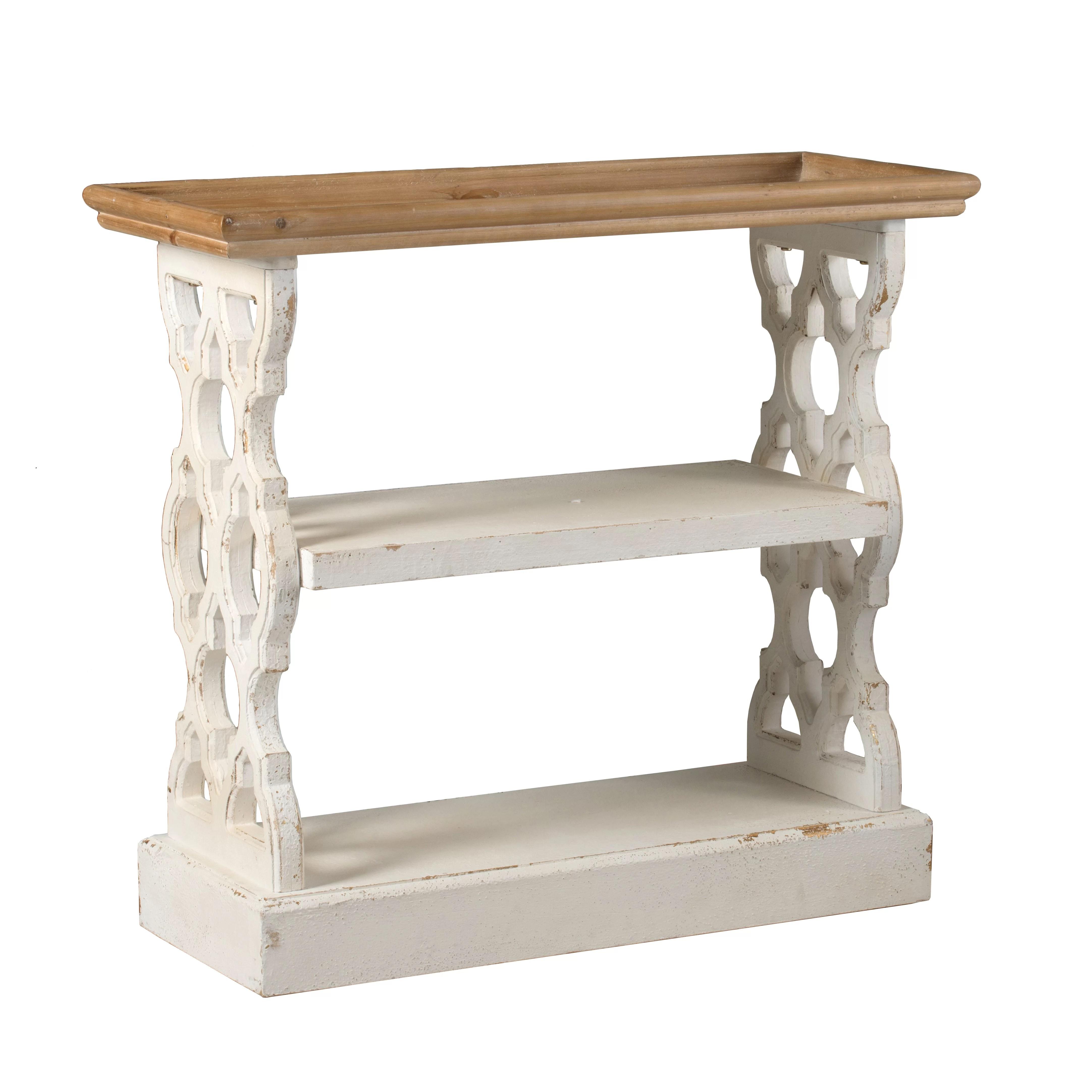 Birchfield Wood Shelf Distressed White Natural