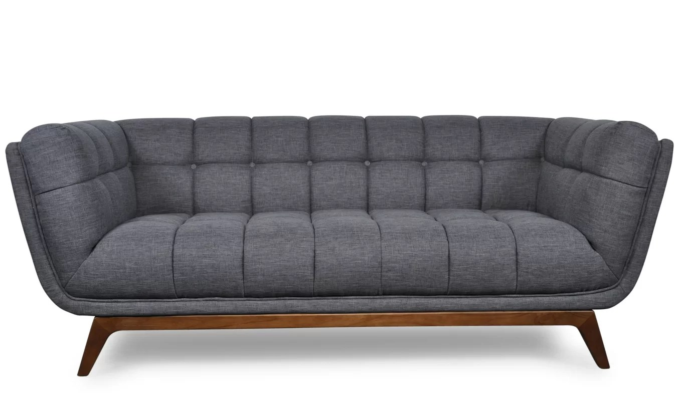 darrin leather sofa reviews sectional decor danish modern elite mid century