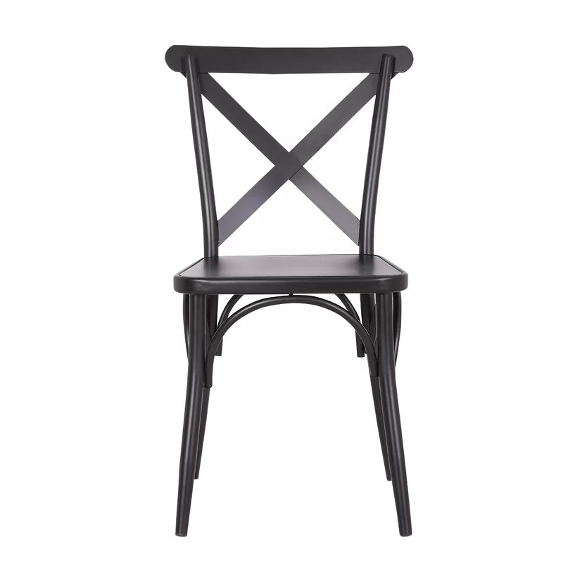 cross back dining chairs white medline shower chair breakwater bay parikh wayfair