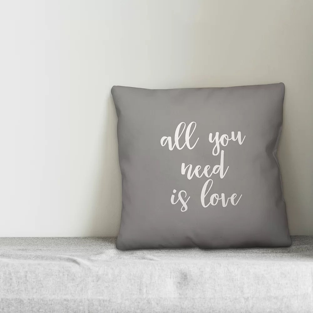 bilmont all you need is love throw pillow