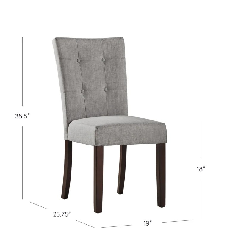 gray side chair chairs in bulk three posts dyer reviews wayfair