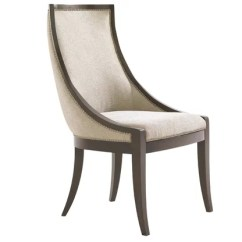 Small Scale Upholstered Dining Chairs For Home Theater Room Perigold Tower Place Talbott Host Chair