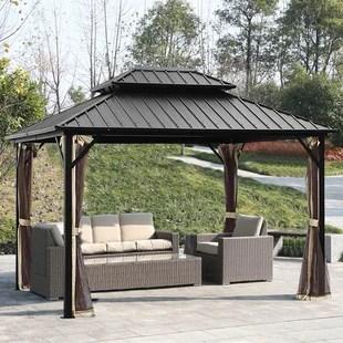 12 ft w x 10 ft d aluminum patio gazebo