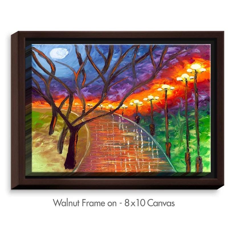Never Alone Painting Print Size: 25.75 H x 37.75 W x 1.75 D Format: Walnut
