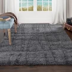 Dark Gray Living Room Rug With Leather Sectional Charcoal Grey Wayfair Danil Area