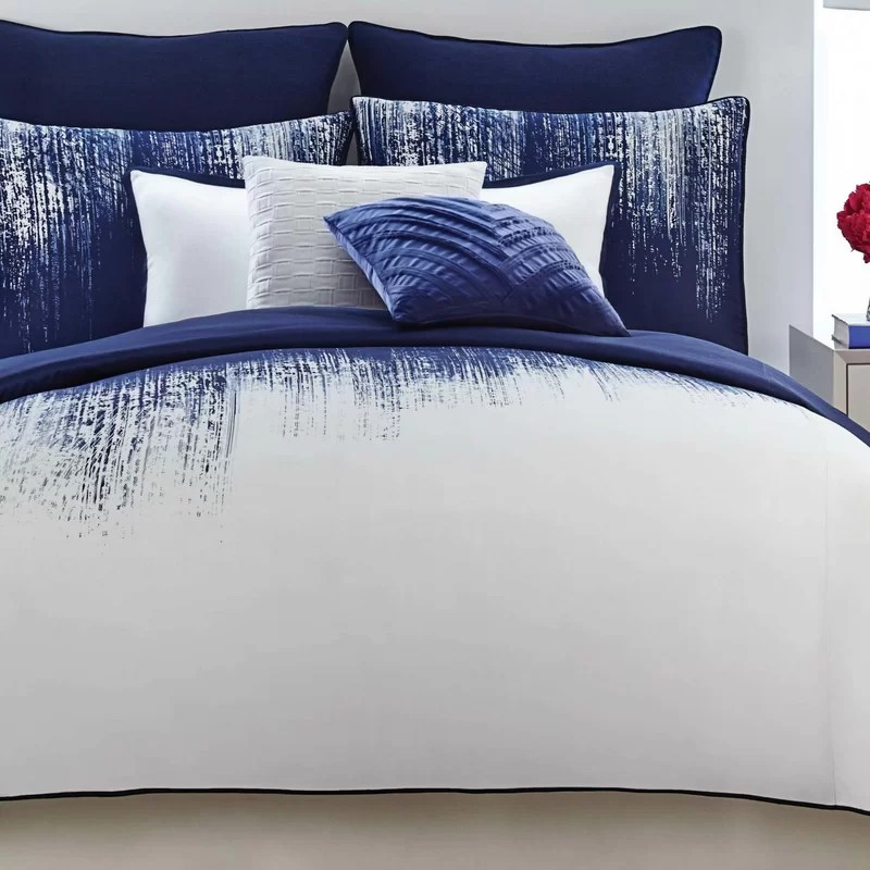 blue ribbon navy white comforter ideas
