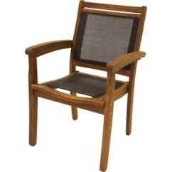 Sling Back Chair Office Non Rolling Modern Contemporary Italian Allmodern Tovar And Eucalyptus Stackable Arm