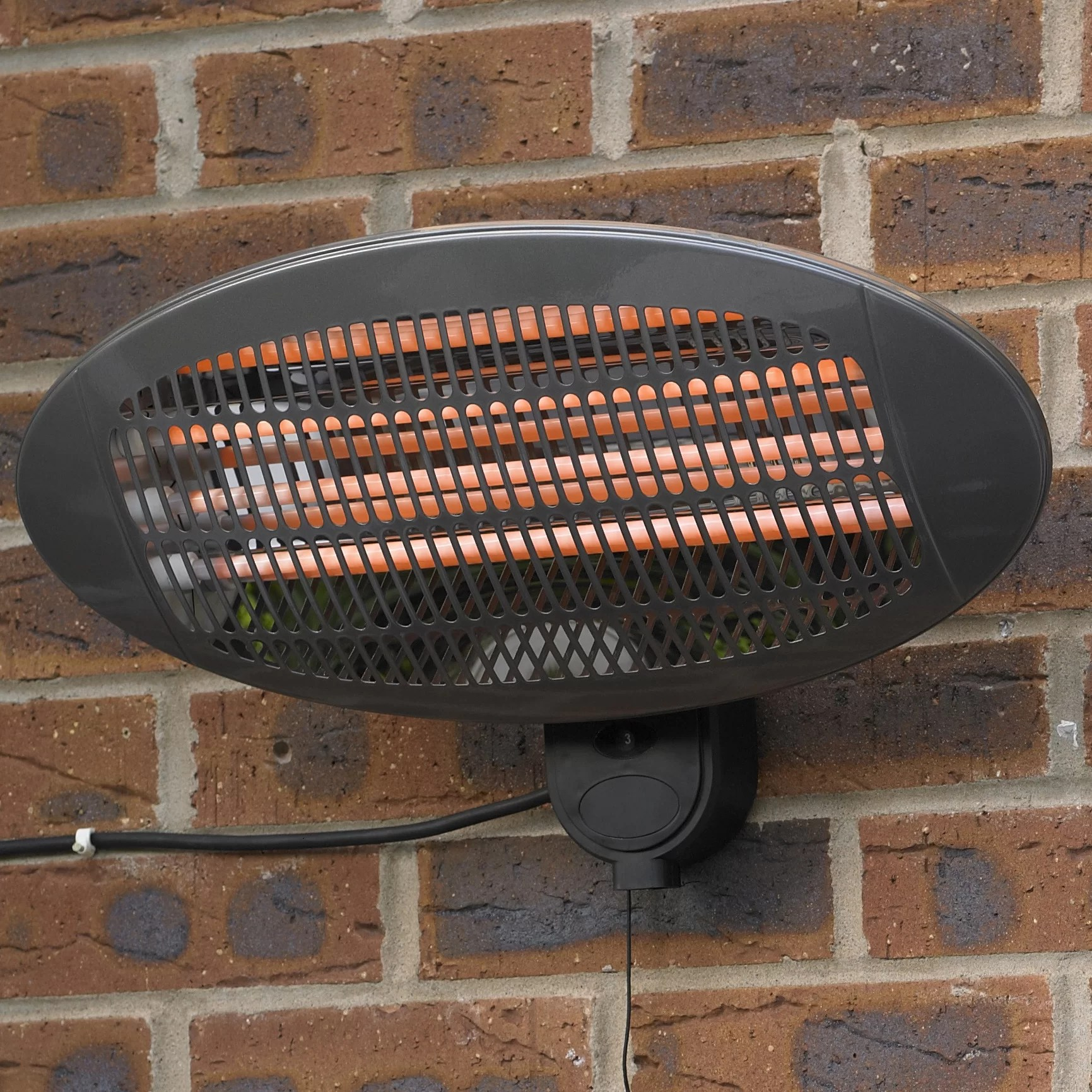 hickman wall mounted electric patio heater