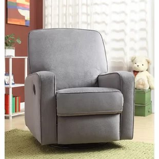 chairs that swivel and recline ethan allen giselle chair small rocker recliners wayfair hemington reclining glider