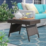 Sol 72 Outdoor Rebello Folding Wicker Side Table Reviews Wayfair