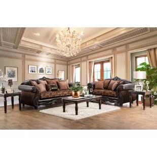 living room set leather nautical style sets you ll love wayfair dolton configurable
