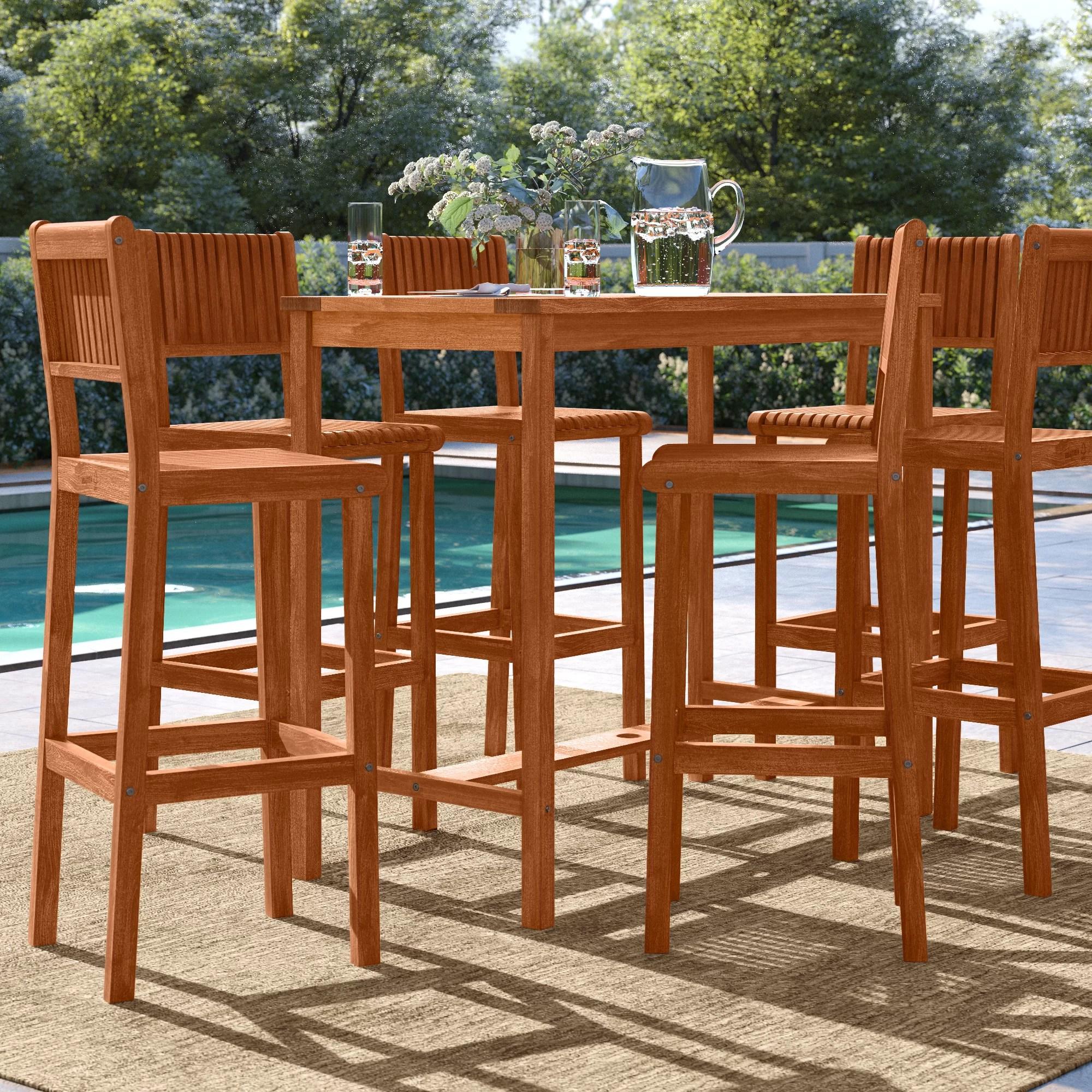 brighton rectangular 6 person 49 long bar height dining set