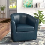 Winston Porter Rabinowitz Swivel Barrel Chair Reviews Wayfair