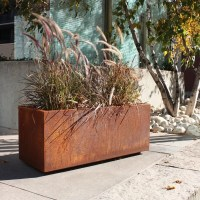 Metallic Series Corten Steel Planter Box & Reviews