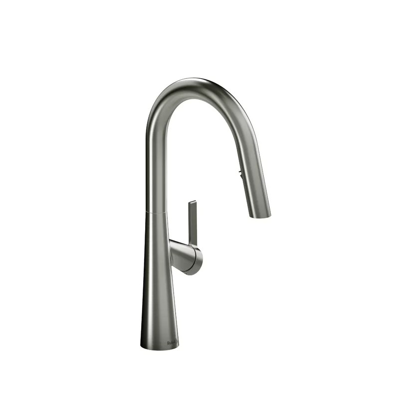ludik pull down single handle kitchen faucet with boomerang fully retractable spray technology
