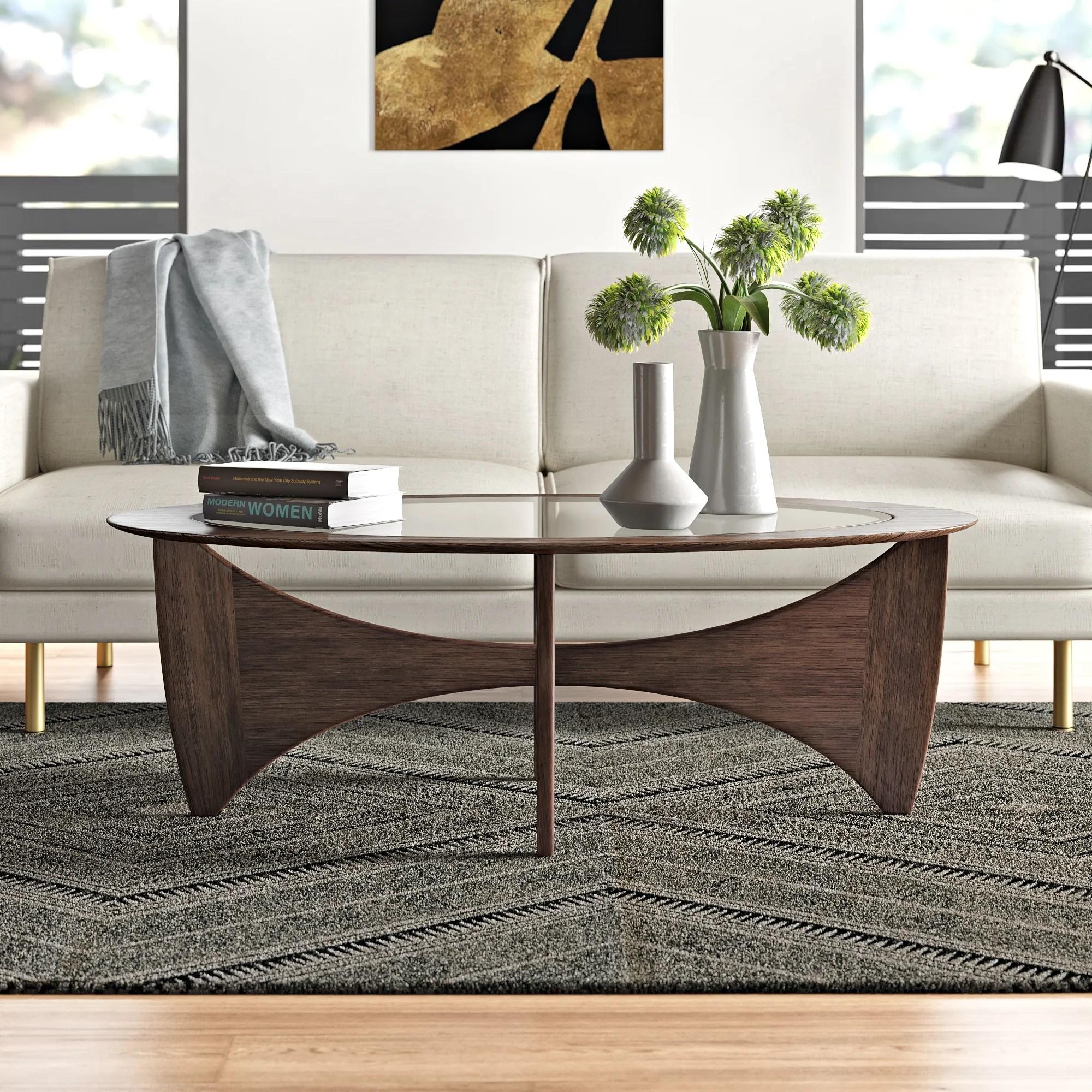 modern glass coffee tables allmodern