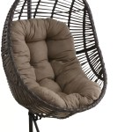 Bayou Breeze Scott Wicker Hanging Egg Swing Chair With Stand Wayfair