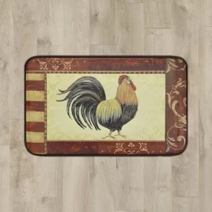 rooster kitchen rug steampunk appliances rugs wayfair mikaela mat