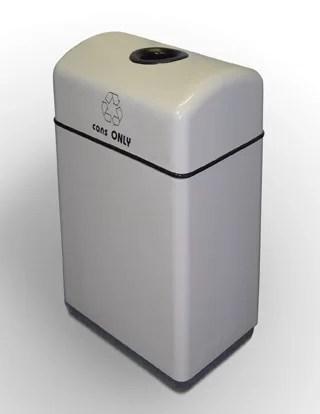 Palmetto 1 Stream 11 Gallon Multi Compartments Recycling Bin Color: Beige