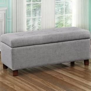 dulaney upholstered flip top storage bench
