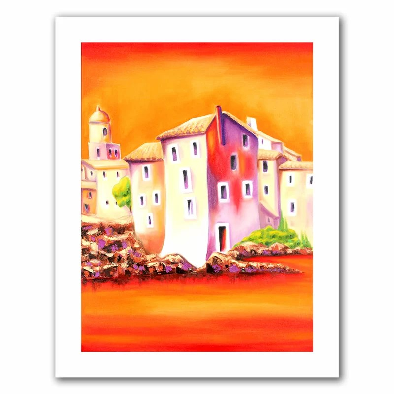 Sunset by Susi Franco Painting Print on Rolled Canvas Size: 52 H x 40 W