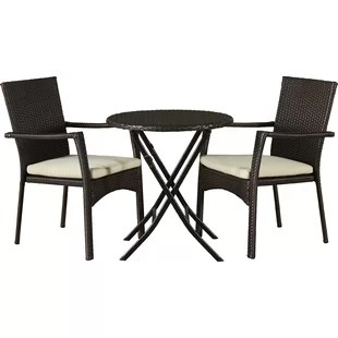 3 piece outdoor table and chairs sitting area biggest crossword bistro sets joss main grampian set