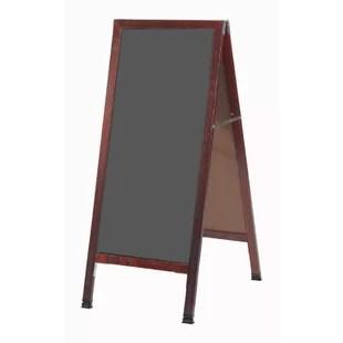 framed chalkboard for kitchen