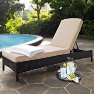 Belton Reclining Chaise Lounge with Cushion