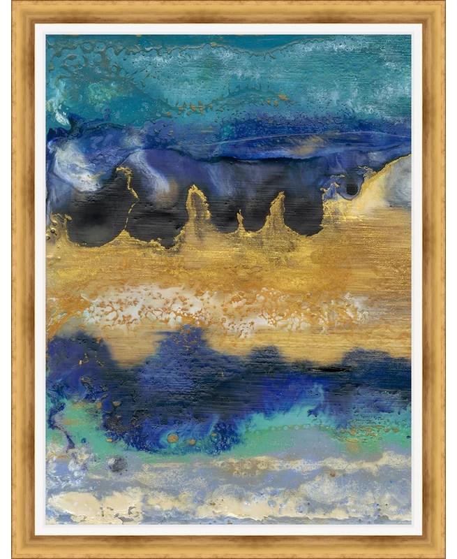 Trends Surf I Framed Painting Print