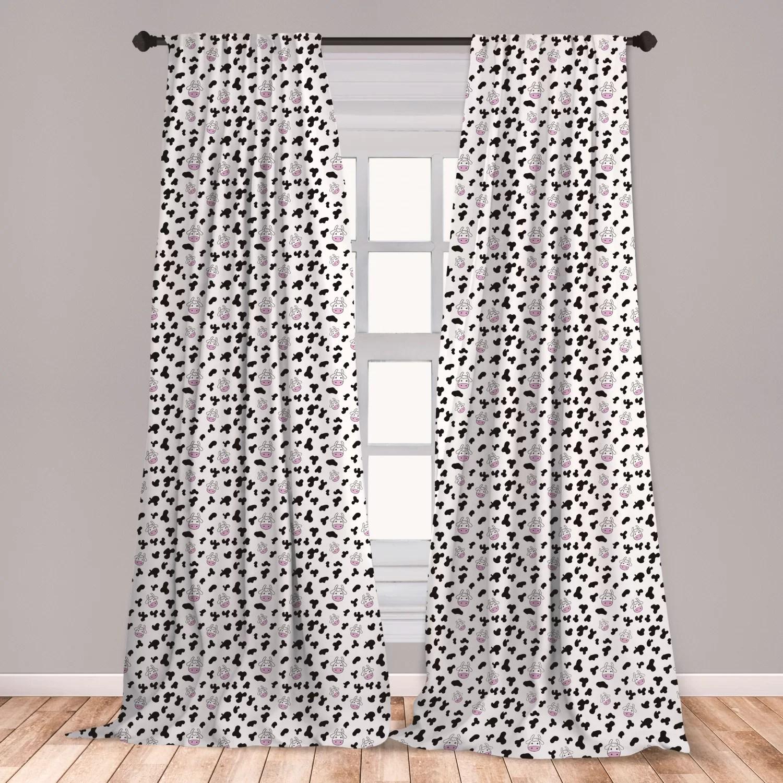 cow print room darkening rod pocket curtain panels