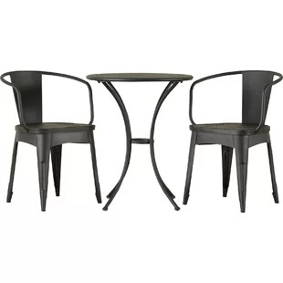 bistro chairs outdoor high back arm chair modern contemporary allmodern quickview