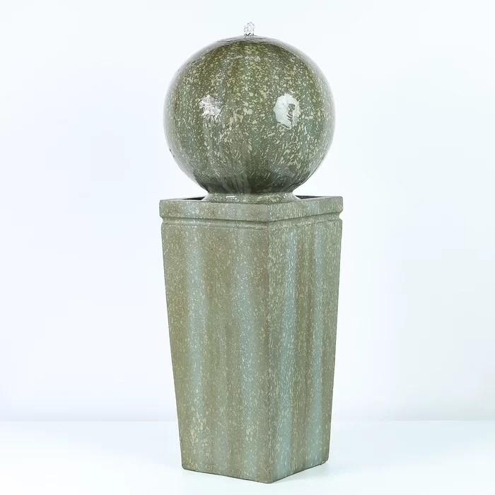 concrete patina sphere on