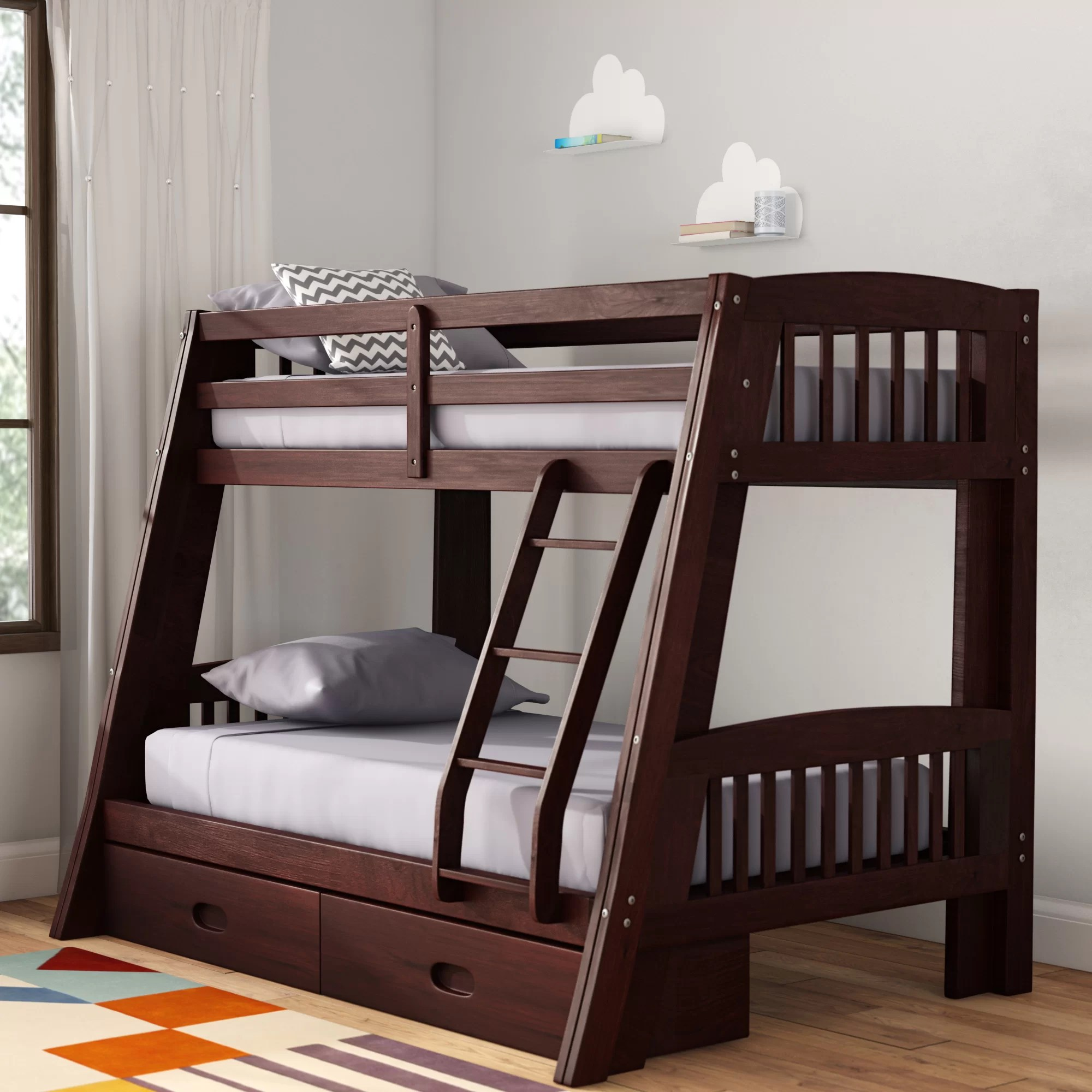 Viv Rae Madyson Twin Over Full Bunk Bed With Storage Reviews