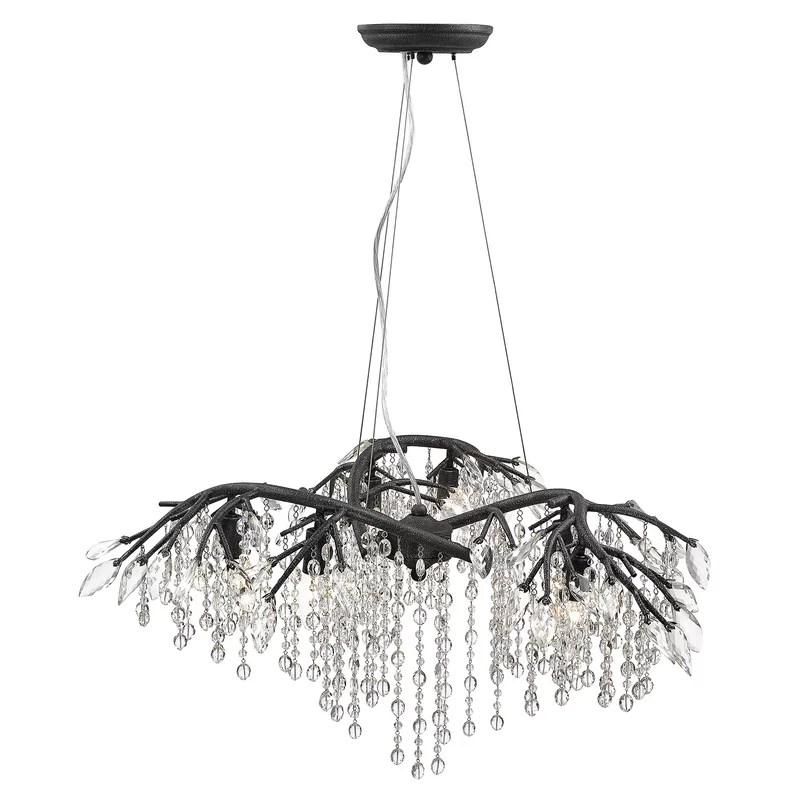 destrie 6 light unique tiered chandelier