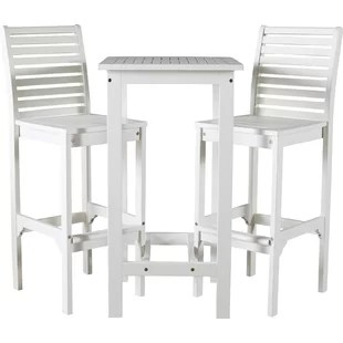 outdoor bar table and chairs chair covers for hire modern sets allmodern hatten 3 piece height dining set