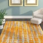 Zipcode Design Tiarra Mid Century Modern Yellow Area Rug Reviews Wayfair