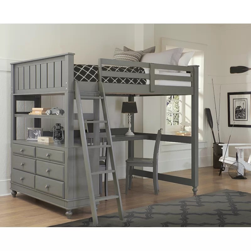 Loft Bed Twin With Desk White